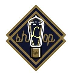 Color vintage lighting shop emblem vector