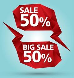Crystal bubble sale vector