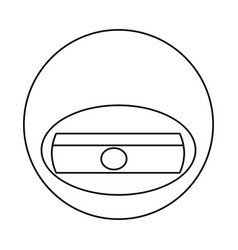 cute sharpener cartoon vector image