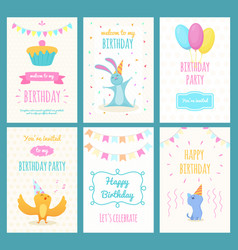 design template of cards with of vector image vector image