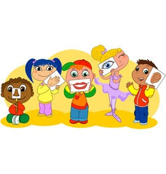 Five senses kids vector image