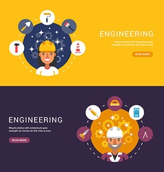 Flat Design Concept for Web Banners Building Icons vector image vector image