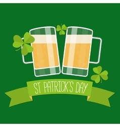Happy St Patricks day green card vector image