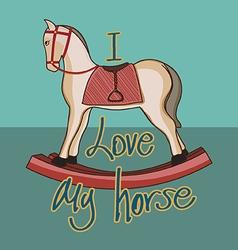 I love my horse vector