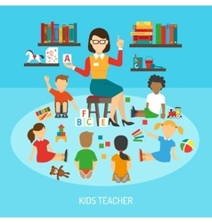 Kids Teacher Poster vector image vector image