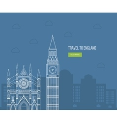 London united kingdom flat icons design travel vector