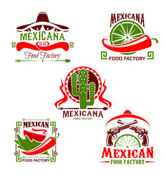 mexican cuisine restaurant icon fast food design vector image