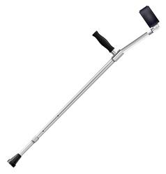 Modern metal crutch vector