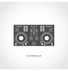 Musical instrument mixing console flat icon vector