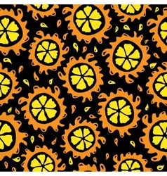 Organic food background oranges seamless pattern vector image vector image