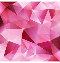 Pink crystal abstract background vector image vector image