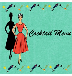 Retro cocktails vector