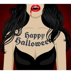 Sexy vampire with blood vector image
