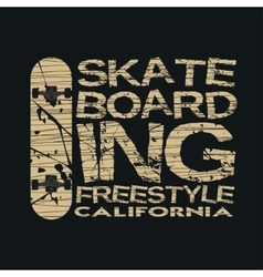skateboarding t-shirt typography vector image vector image