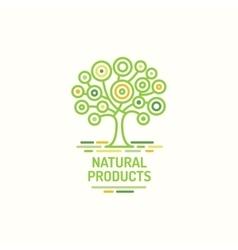 Tree symbol natural product green tree icon vector image vector image