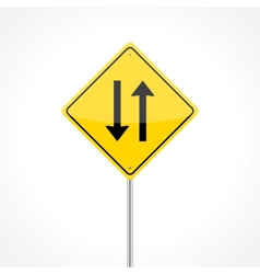 Two way traffic sign vector image