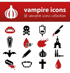 Vampire icons vector