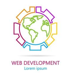 WebDevelop-04 vector image vector image