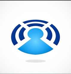 Wireless bluetooth people communication logo vector