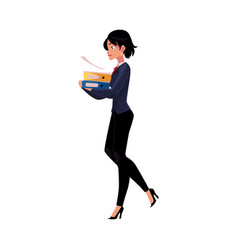 Young businesswoman woman girl in business suit vector