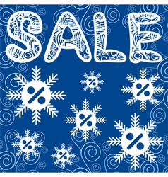 Sale winter vector image