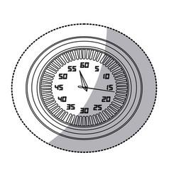 figure round clock icon vector image
