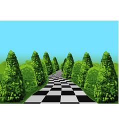 Wonderland road vector