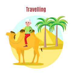 summer vacation template vector image