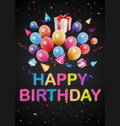 Happy birthday greetings on chalkboard vector