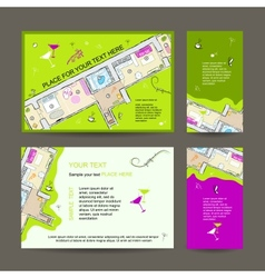 New dwelling party invitation desing with place vector