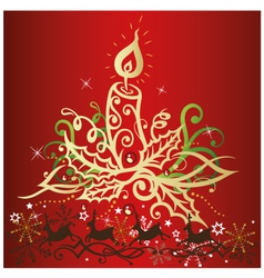 Christmas xmas reindeer candles vector