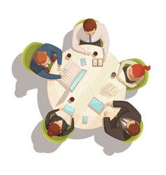 Business meeting cartoon concept vector