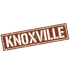 Knoxville brown square stamp vector