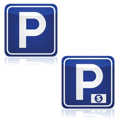 Parking and pay parking vector