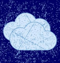 Grunge clouds vector