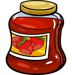 Jam in jar cartoon vector
