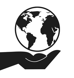 Hand earth design vector
