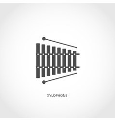 Musical instrument xylophone flat icon vector