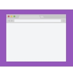 Simple Browser Window flat design vector image