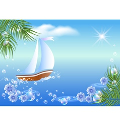 sailboat floats vector image