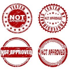 Red stamp - not approved vector