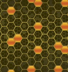 honeycomb background three vector image