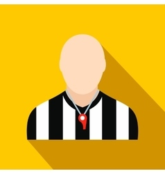 Referee flat icon vector