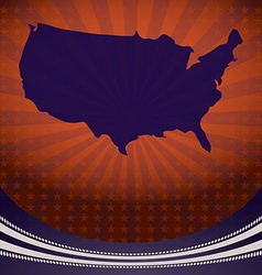 Usa map election campaign vector