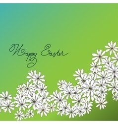 Spring happy easter background with chamomiles vector