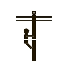 Electrician worker icon vector