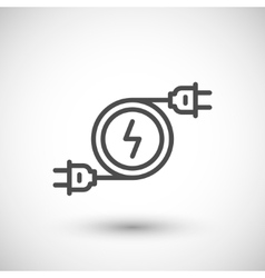 Electricity line icon symbol vector
