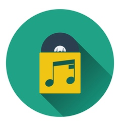 Vinyl record in envelope icon vector