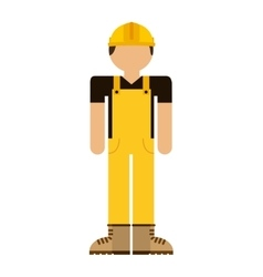 Builder avatar isolated icon design vector