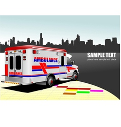al 0743 ambulance vector image